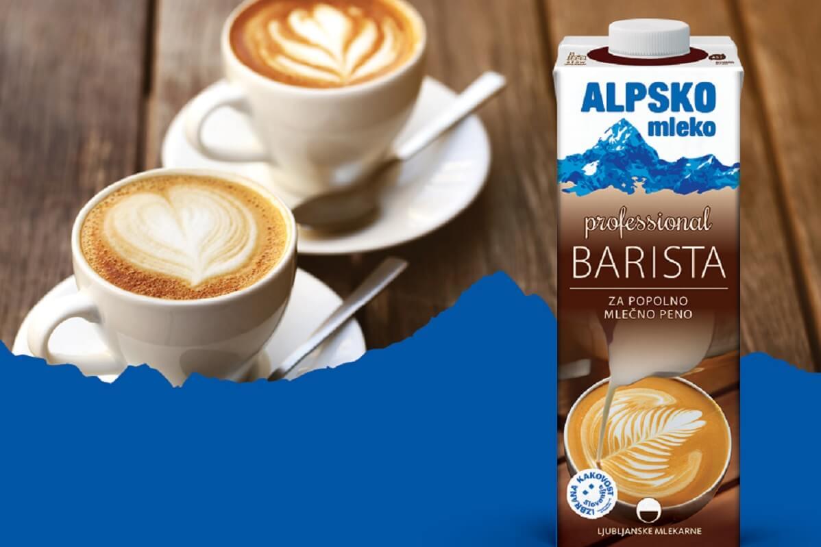 Alpsko mleko Professional Barista, za popolno mlečno peno