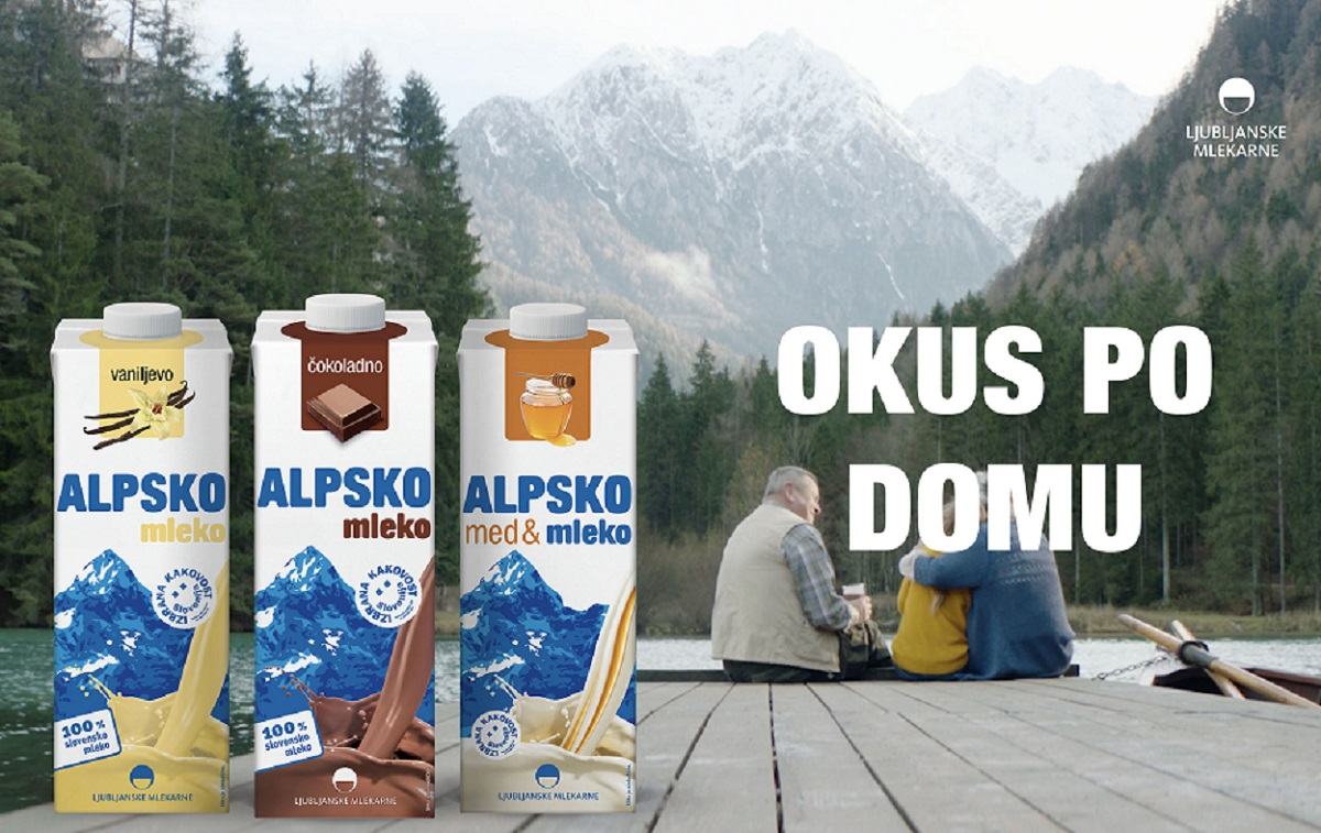 Alpsko mleko z okusi – Okus po domu.